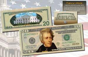 *MUST SEE* Genuine Legal Tender COLORIZED 2-Sided $20 Twenty-Dollar U.S Bill