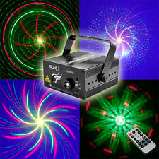 Mini Remote 8 Big Gobo RG Laser BLUE LED Stage Lighting DJ Party Home Xmas Light