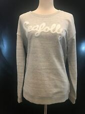 BNWT SEAFOLLY Women's Castaway Stripe Looped Flock Logo Pullover Size L Save £25