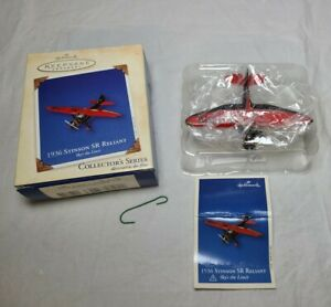 Hallmark Keepsake Ornament 2003 1936 Stinson SR Reliant Sky's the Limit Plane #7