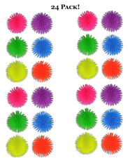 24pk Colorful Rubber Puffer Balls Sensory Fidget Toy Stocking Stuffers Toy Drive