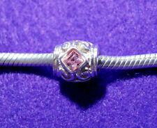 Adorare Charm - Vintage Pink - Frederic Strass Sterling Silver & Swarovski Cryst