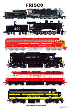 "Frisco Eras 11""x17"" Railroad Poster Andy Fletcher signed"