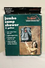 Texsport Jumbo Camp Shower 5 Gallon Outdoor Portable Solar Hiking Backpacking
