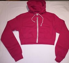bc6294e429ad Ladies girls Pink DESIGNER CROP HOODY TOP Size 8 10 12 14 NEW AWDis