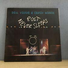 NEIL YOUNG Rust Never Sleeps 1979 UK vinyl LP + INNER EXCELLENT CONDITION