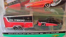 MAISTO DESIGN 1/64 TOW & GO CHEVY SILVERADO SS / CAR TRAILER NEW EXCLUSIVE