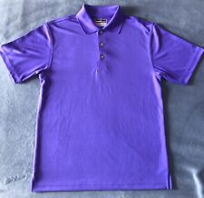 Grand Slam Performance AirFlow Golf Shirt Mens Purple Polo Short Sleeve Sz Small