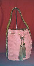 Melie Bianco Saddle Braid Large Hobo Shoulder Bag Braided Vegan Leather MSR $113