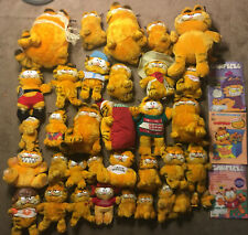 Massive Lot Of Garfield Stuffed Animals 35 Plus Books!
