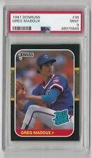 Greg Maddux PSA 9 Mint 1987 Donruss Rated Rookie Card RC NEW CASE Cubs HOF