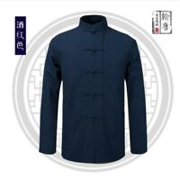 Chinese Tang Suit Men's Cotton Traditional Coat clothing Kung Fu Tai Chi Uniform