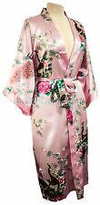 Kimono Peacock PREMIUM dressing gown Lingerie robe Light Pink