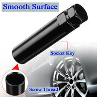 AU Glossy Black 6 Spline Drive Tuner Wheel Lug Nut Tool Key Lock 19mm 21mm 3/4''