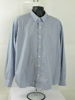 Eddie Bauer Plaid Long Sleeve Button Down Shirt Size XL Blue