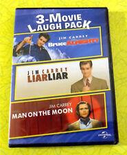 Bruce Almighty / Liar Liar / Man On the Moon ~ New DVD ~ Jim Carrey 3 Movie Pack