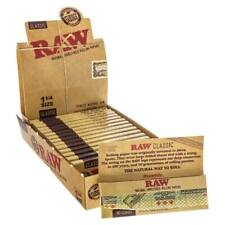 Raw 1 1/4 1.25 Classic Unrefined Premium Cigarette Rolling Papers 32 Leaves