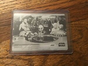 2018 Topps Star Wars The Last Jedi series 2 #46 black printing plate Canto filth