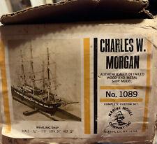 Charles Morgan wood ship kit by Marine Model company vintage Kit 1089 vintage