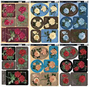 Rose floral cardmaking kit - Kanban Kandi Core roses die cut toppers paper craft