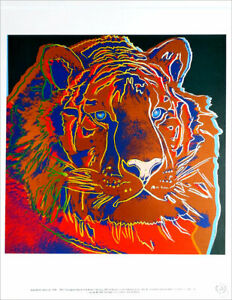Andy WARHOL Siberian Tiger Official Authorized Litho Print 1989
