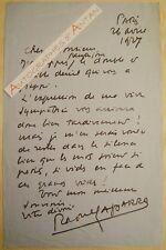 L.A.S 1907 Raoul LAPARRA Compositeur Musicien élève de MASSENET - Musique lettre