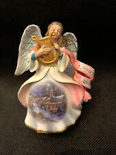 "Danbury Mint Thomas Kinkade ""Joy to the World"" Angel Ornament - Perfect"
