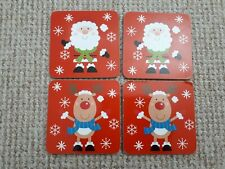 4 x Christmas Coasters NEW