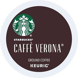 Starbucks Cafe Verona Coffee K-Cups Pack 24/Box BB MARCH 2018