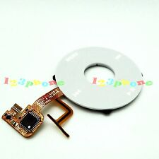 CLICKWHEEL CLICK WHEEL + MENU FACEPLATE FLEX CABLE FOR iPOD VIDEO 5 #C-103_WHITE