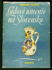 OLD BOOK Slovak Folk Art ethnic costume textile pottery wood carving bobbin lace