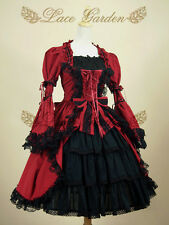 Cosplay Gothic Vintage Lolita Dress (Color: Red Wine)