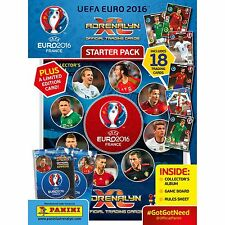 2016 PANINI ADRENALYN XL UEFA EURO 2016 Starter Pack 18 Tarjetas/Álbum/le tarjeta