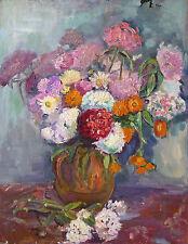Marcel HORCLOIS (1914-2011) HsP Bouquet de fleurs Nle Ecole de Paris Années 70