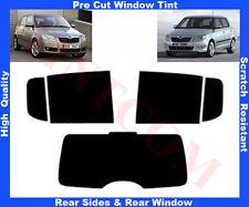 Pre-Cut Window Tint Skoda Fabia 5D 2007-2013 Rear Window & Rear Sides Any Shade