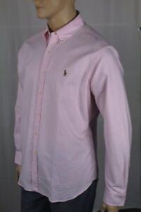 Ralph Lauren Pink Cream Striped Classic Dress Shirt Multi Color Pony NWT