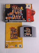 Conker's Bad Fur Day Nintendo 64 N64 COMPLETE IN BOX w/ Manual RARE