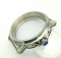 45mm Silver Stainless Steel Case for ETA 6497/6498 Movement Men's Watch Case
