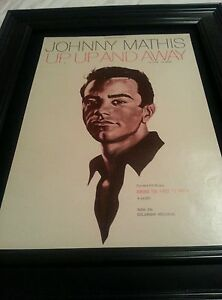 Johnny Mathis Up, Up, And Away Rare Original Promo Poster Ad Framed!