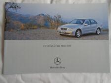 Mercedes C Class Saloon price list brochure Jan 2004