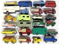 24 Vintage 1960s LESNEY Matchbox Most Gray Wheel Truck Car Trailer Vehicle LOT!