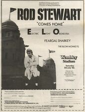 31/5/86PN37 ADVERT: PLAYING LIVE ROD STEWART COMES HOME TO WEMBLEY 10X7
