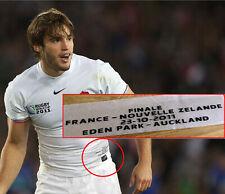 Patch Flocage détails Finale Coupe monde 2011 Equipe de France Rugby All Blacks