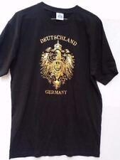Deutschland Germany Jersey T-Shirt Eagle Emblem Black Size XXL