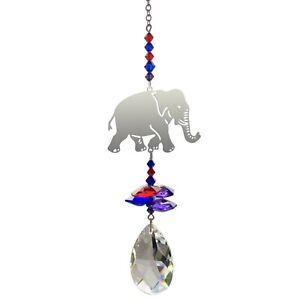 Elephant Crystal suncatcher car window hanging home decor gift rainbow maker