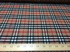 Camel/Black/Red Plaid With Metalic Stitch Lines Wool Blend Fabric 58