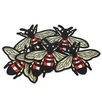 Bee Flying Sew Iron On Embroidery Badge Fabric Applique Patch Craft DIY Decor