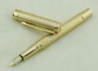 Crocodile 218 Fountain Pen , Medium Nib Size , Luxury Golden Rain Gift Pen
