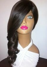 """16"""" 2tone brown #2/4 100% human hair full wig not lace front"""
