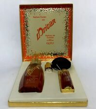 Vintage L'Origan De Coty Parfum De Toilette 1.25 oz Gift Set + Mini Bottle NEW!
